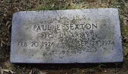 SEXTON (VETERAN), PAUL E. - Lawrence County, Arkansas | PAUL E. SEXTON (VETERAN) - Arkansas Gravestone Photos