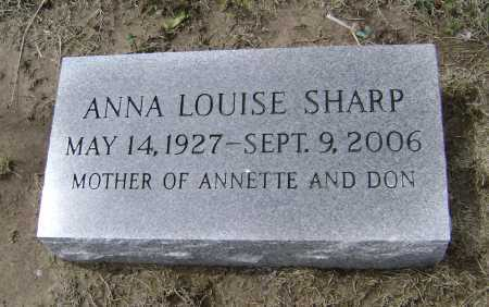 PICKRELL SHARP, ANNA LOUISE - Lawrence County, Arkansas | ANNA LOUISE PICKRELL SHARP - Arkansas Gravestone Photos