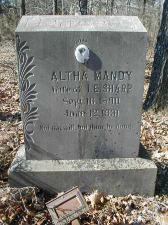 SHARP, ALTHA AMANDA - Lawrence County, Arkansas | ALTHA AMANDA SHARP - Arkansas Gravestone Photos