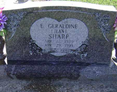 SHARP, E. GERALDINE JEAN - Lawrence County, Arkansas | E. GERALDINE JEAN SHARP - Arkansas Gravestone Photos
