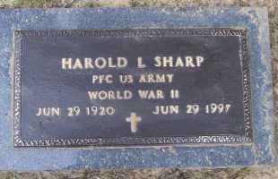 SHARP (VETERAN WWII), HAROLD LELAND - Lawrence County, Arkansas | HAROLD LELAND SHARP (VETERAN WWII) - Arkansas Gravestone Photos