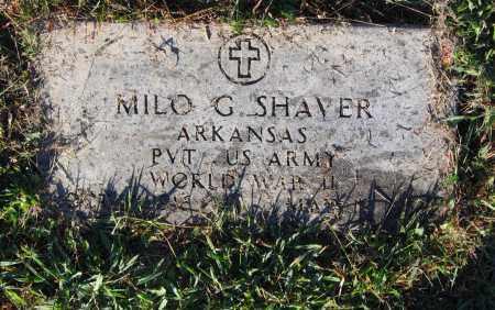 SHAVER, SR (VETERAN WWII), MILO GIFFORD - Lawrence County, Arkansas | MILO GIFFORD SHAVER, SR (VETERAN WWII) - Arkansas Gravestone Photos