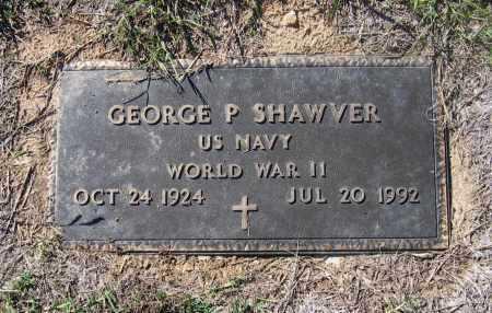 SHAWVER (VETERAN WWII), GEORGE PARK - Lawrence County, Arkansas | GEORGE PARK SHAWVER (VETERAN WWII) - Arkansas Gravestone Photos