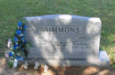 SIMMONS, ALDEN - Lawrence County, Arkansas | ALDEN SIMMONS - Arkansas Gravestone Photos