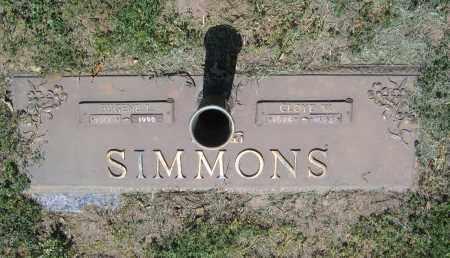 SIMMONS, CLOYD WAYNOMA - Lawrence County, Arkansas | CLOYD WAYNOMA SIMMONS - Arkansas Gravestone Photos