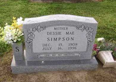 "SIMPSON, ODESSA MAE ""DESSIE"" - Lawrence County, Arkansas 