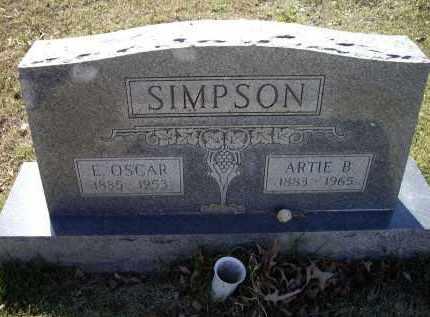 SIMPSON, ENOCH OSCAR - Lawrence County, Arkansas | ENOCH OSCAR SIMPSON - Arkansas Gravestone Photos