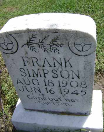SIMPSON, FRANK - Lawrence County, Arkansas | FRANK SIMPSON - Arkansas Gravestone Photos