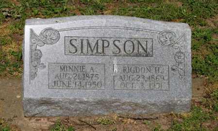 SIMPSON, MINNIE A. - Lawrence County, Arkansas | MINNIE A. SIMPSON - Arkansas Gravestone Photos