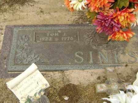 "SINKS, THOMAS JEFFERSON ""TOM J."" - Lawrence County, Arkansas | THOMAS JEFFERSON ""TOM J."" SINKS - Arkansas Gravestone Photos"