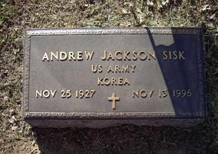 SISK (VETERAN KOR), ANDREW JACKSON - Lawrence County, Arkansas | ANDREW JACKSON SISK (VETERAN KOR) - Arkansas Gravestone Photos