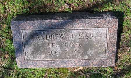 SISK, ANDREW JACKSON - Lawrence County, Arkansas | ANDREW JACKSON SISK - Arkansas Gravestone Photos