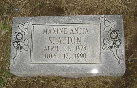 SLATTON, MAXINE ANITA - Lawrence County, Arkansas | MAXINE ANITA SLATTON - Arkansas Gravestone Photos