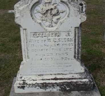 SLOAN, ELIZABETH JANE - Lawrence County, Arkansas | ELIZABETH JANE SLOAN - Arkansas Gravestone Photos