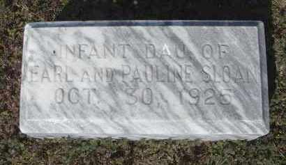 SLOAN, INFANT DAUGHTER - Lawrence County, Arkansas | INFANT DAUGHTER SLOAN - Arkansas Gravestone Photos