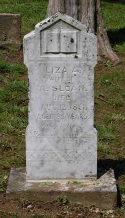 SLOAN, LIZA A. - Lawrence County, Arkansas | LIZA A. SLOAN - Arkansas Gravestone Photos
