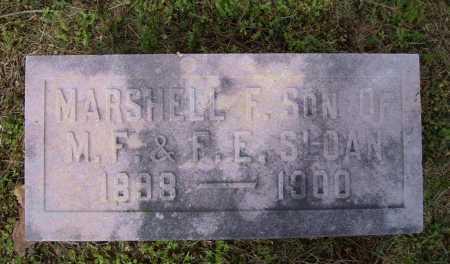 SLOAN, MARSHELL F. - Lawrence County, Arkansas | MARSHELL F. SLOAN - Arkansas Gravestone Photos