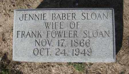"BABER SLOAN, VIRGINIA ""JENNIE"" - Lawrence County, Arkansas | VIRGINIA ""JENNIE"" BABER SLOAN - Arkansas Gravestone Photos"
