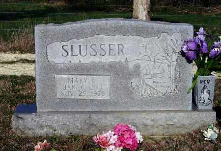 RUSSELL SLUSSER, MARY FRANCES - Lawrence County, Arkansas   MARY FRANCES RUSSELL SLUSSER - Arkansas Gravestone Photos