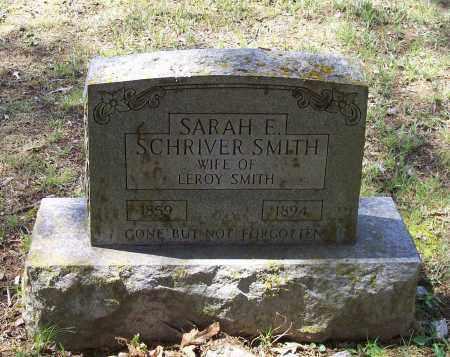 SMITH, SARAH E. SCHRIVER - Lawrence County, Arkansas   SARAH E. SCHRIVER SMITH - Arkansas Gravestone Photos