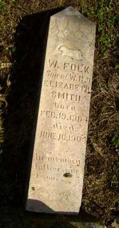SMITH, W. FOLK - Lawrence County, Arkansas | W. FOLK SMITH - Arkansas Gravestone Photos