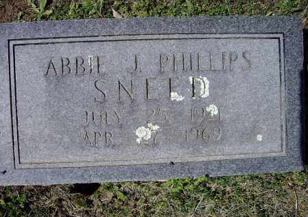PHILLIPS SNEED, ABBIE JERENE - Lawrence County, Arkansas | ABBIE JERENE PHILLIPS SNEED - Arkansas Gravestone Photos