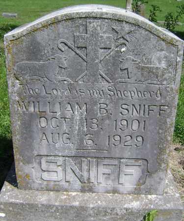 SNIFF, WILLIAM B. - Lawrence County, Arkansas | WILLIAM B. SNIFF - Arkansas Gravestone Photos