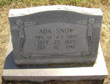 SNOW, ADA - Lawrence County, Arkansas | ADA SNOW - Arkansas Gravestone Photos