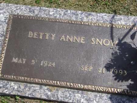 SNOW, BETTY ANNE - Lawrence County, Arkansas | BETTY ANNE SNOW - Arkansas Gravestone Photos