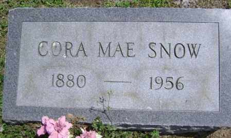 SNOW, CORA MAE - Lawrence County, Arkansas | CORA MAE SNOW - Arkansas Gravestone Photos