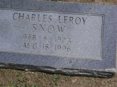 SNOW, CHARLES LEROY - Lawrence County, Arkansas | CHARLES LEROY SNOW - Arkansas Gravestone Photos
