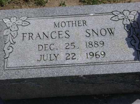 SNOW, FRANCES - Lawrence County, Arkansas | FRANCES SNOW - Arkansas Gravestone Photos