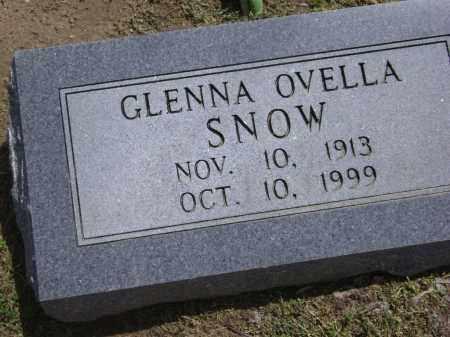 SNOW, GLENNA OVELLA - Lawrence County, Arkansas | GLENNA OVELLA SNOW - Arkansas Gravestone Photos
