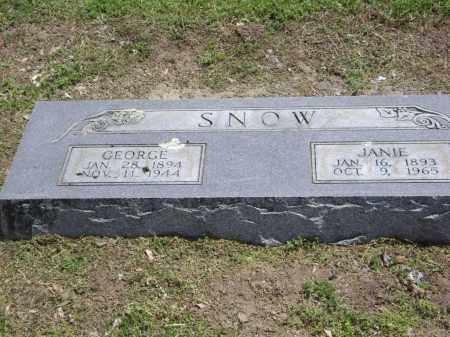 SNOW, SR., GEORGE PARKER - Lawrence County, Arkansas | GEORGE PARKER SNOW, SR. - Arkansas Gravestone Photos