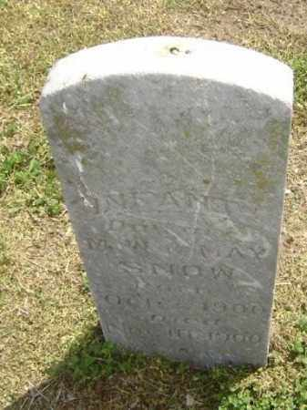 SNOW, INFANT DAUGHTER - Lawrence County, Arkansas | INFANT DAUGHTER SNOW - Arkansas Gravestone Photos