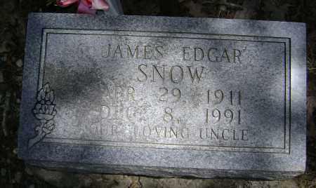 SNOW, JAMES EDGAR - Lawrence County, Arkansas   JAMES EDGAR SNOW - Arkansas Gravestone Photos