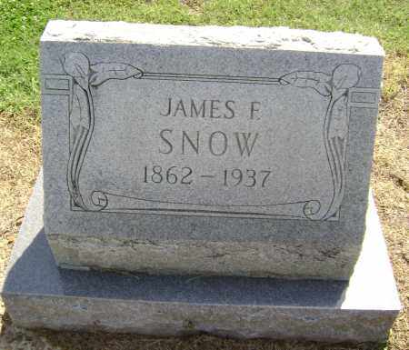 SNOW, JAMES F. - Lawrence County, Arkansas | JAMES F. SNOW - Arkansas Gravestone Photos