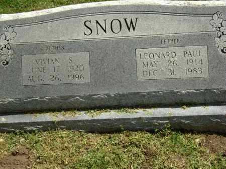 SNOW, LEONARD PAUL - Lawrence County, Arkansas | LEONARD PAUL SNOW - Arkansas Gravestone Photos