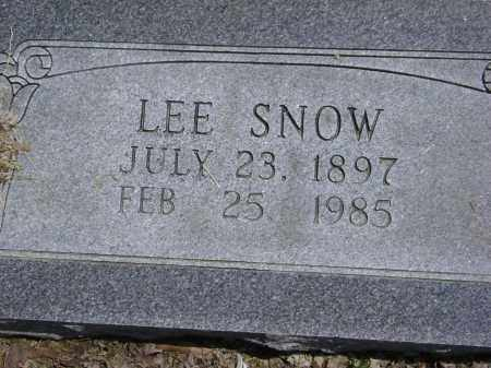SNOW, LEE - Lawrence County, Arkansas | LEE SNOW - Arkansas Gravestone Photos