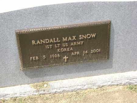 SNOW (VETERAN KOR), RANDALL MAX - Lawrence County, Arkansas | RANDALL MAX SNOW (VETERAN KOR) - Arkansas Gravestone Photos