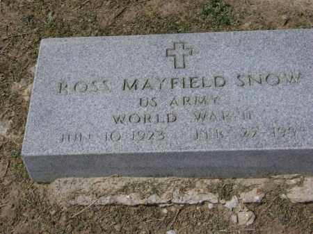 SNOW (VETERAN WWII), ROSS MAYFIELD - Lawrence County, Arkansas | ROSS MAYFIELD SNOW (VETERAN WWII) - Arkansas Gravestone Photos