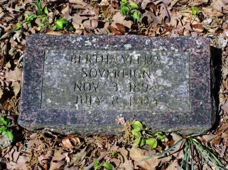 SOVEREIGN, BERTHA VELMA - Lawrence County, Arkansas | BERTHA VELMA SOVEREIGN - Arkansas Gravestone Photos