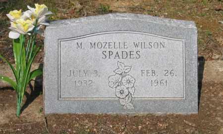 WILSON SPADES, MARJORIE MOZELLE - Lawrence County, Arkansas | MARJORIE MOZELLE WILSON SPADES - Arkansas Gravestone Photos