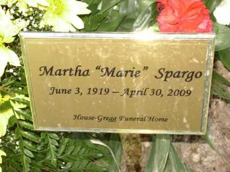 DITTO SPARGO, MARTHA MARIE - Lawrence County, Arkansas | MARTHA MARIE DITTO SPARGO - Arkansas Gravestone Photos