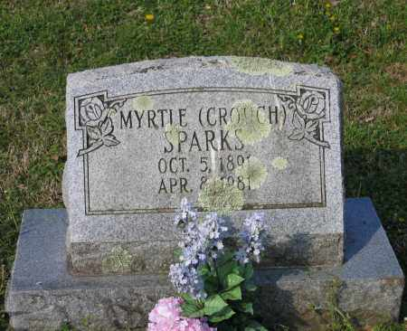 CROUCH SPARKS, MYRTLE J. - Lawrence County, Arkansas | MYRTLE J. CROUCH SPARKS - Arkansas Gravestone Photos
