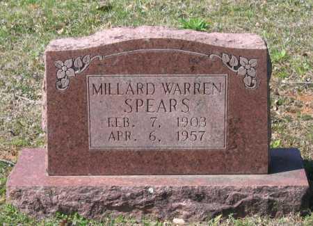 SPEARS, MILLARD WARREN - Lawrence County, Arkansas   MILLARD WARREN SPEARS - Arkansas Gravestone Photos