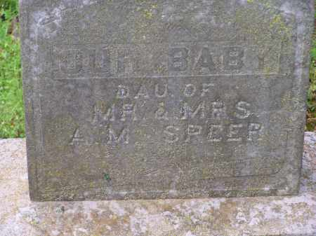 SPEER, INFANT DAUGHTER - Lawrence County, Arkansas | INFANT DAUGHTER SPEER - Arkansas Gravestone Photos