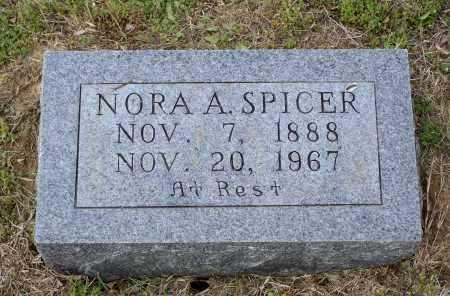 SPICER, NORA AMANDA - Lawrence County, Arkansas | NORA AMANDA SPICER - Arkansas Gravestone Photos