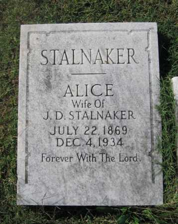 STALNAKER, ALICE M. - Lawrence County, Arkansas | ALICE M. STALNAKER - Arkansas Gravestone Photos