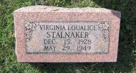 STALNAKER, VIRGINIA LOUALICE - Lawrence County, Arkansas | VIRGINIA LOUALICE STALNAKER - Arkansas Gravestone Photos